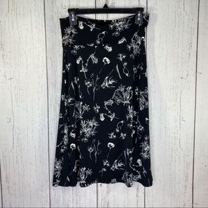Lularoe woman's long skirt size medium black